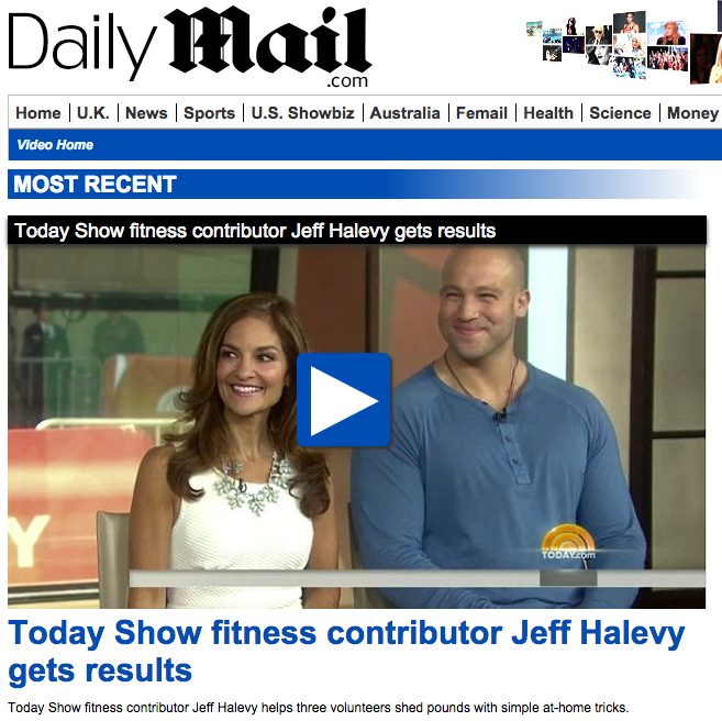 Today Show fitness contributor Jeff Halevy gets results