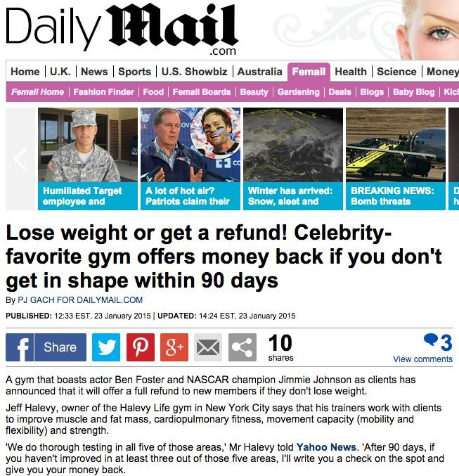 Lose weight or get a refund! Celebrity-favorite gym offers money back if you don't get in shape within 90 days