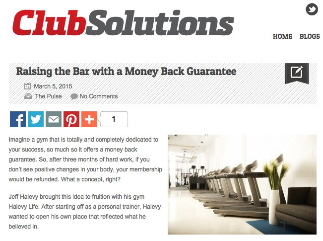 Raising the Bar with a Money Back Guarantee