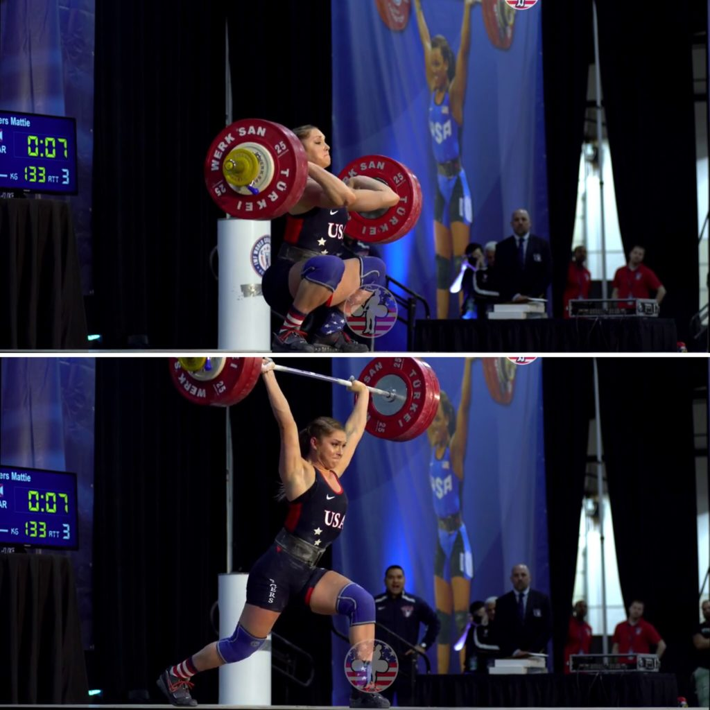 M. Rogers clean and jerk
