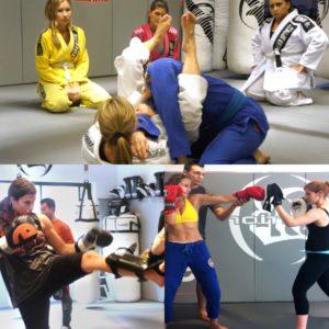 Students learning Muay Thai & Brazilian Jiu Jitsu in New York, NYC 10022